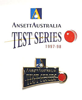 LAPEL BADGE - TEST CRICKET SERIES 1997-98